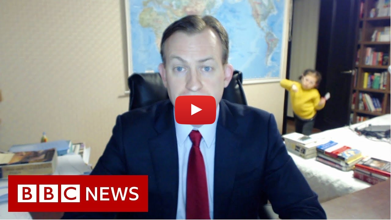 Viral video of BBC dad working from home