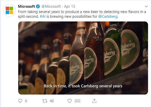 Carlsberg microsoft AI Twitter integrated marketing communication campaign