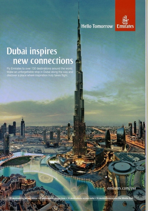 Emirates Print Advertisement Integrated Marketing Communication