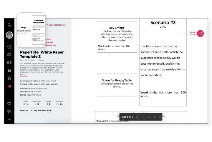 Free White paper template by Paperflite