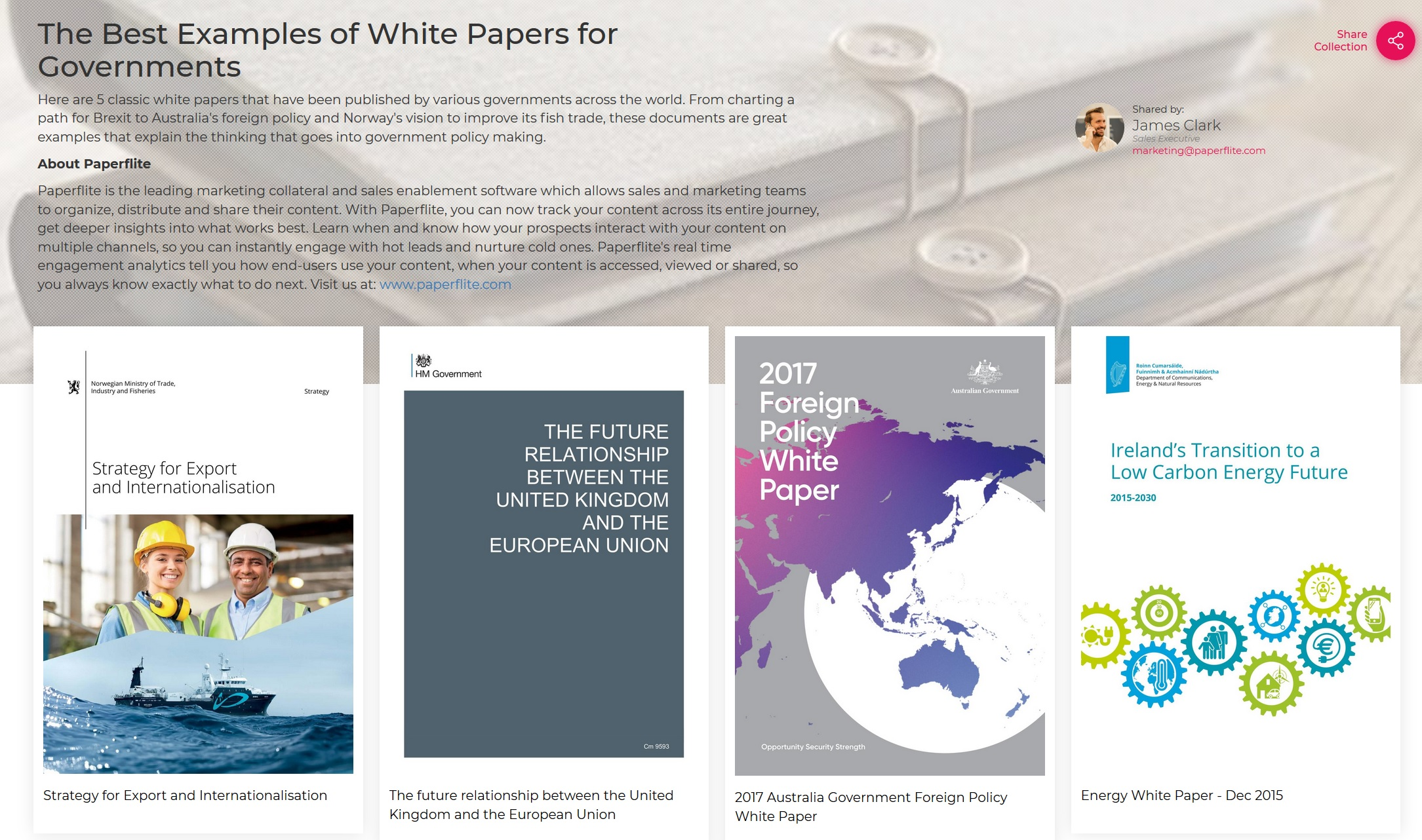 The Best WhitePaper Examples for Governments
