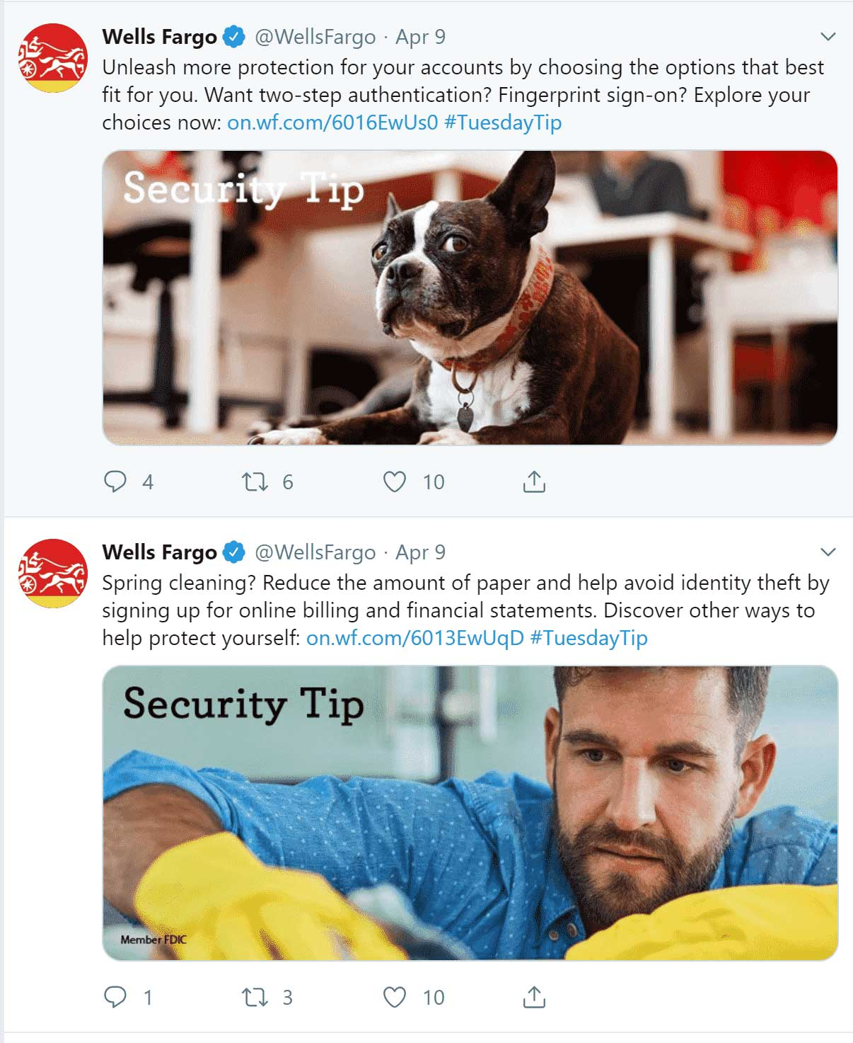 Tweets-Wells-Fargo-integrated-marketing-communication-campaign